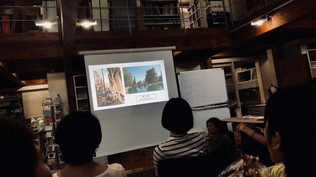 日本と大きく異なるパリの街並みを説明している